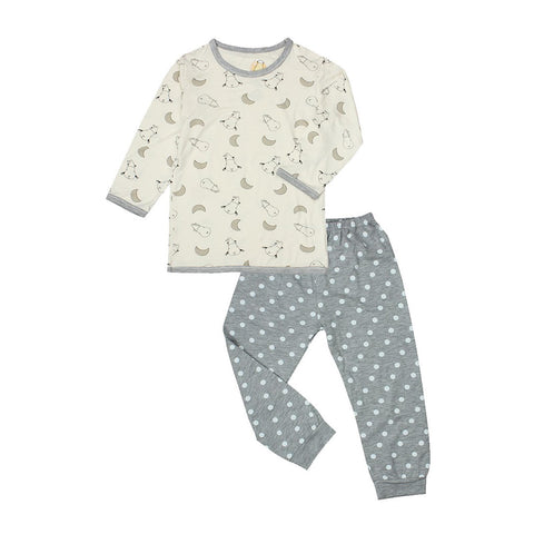 Baa Baa Sheepz Moon Dot Pjyamas Set