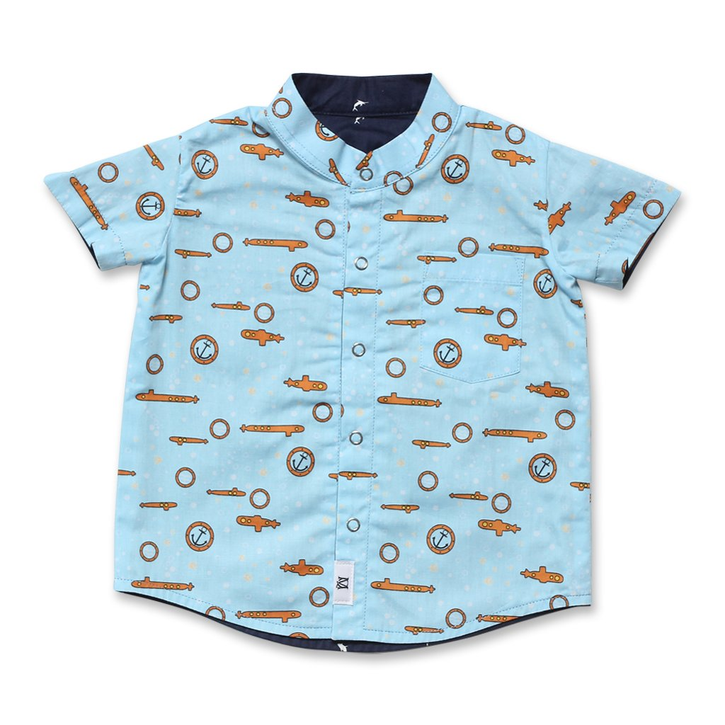 MAISON Q Grey Dolphin Reversible Shirt