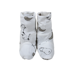 Baa Baa Sheepz Booties Small Moon & Sheepz White
