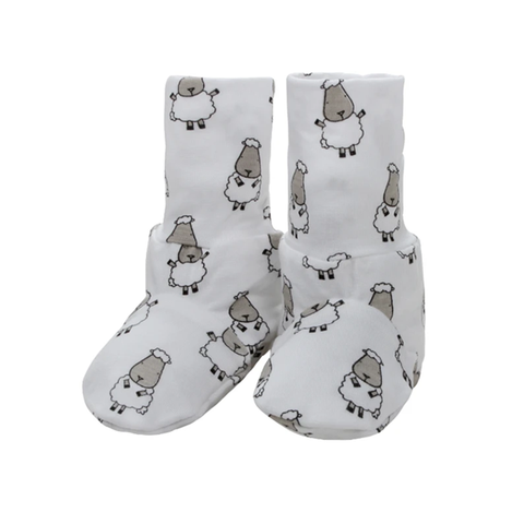 Baa Baa Sheepz Booties Small Sheepz White