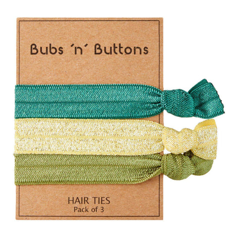 Bubs 'n' Buttons Hair Ties - 3pcs Pack
