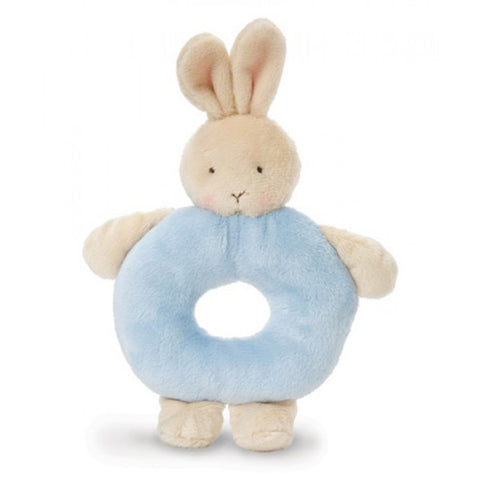 Bunnies by the Bay Bunny Ring Rattle Blue