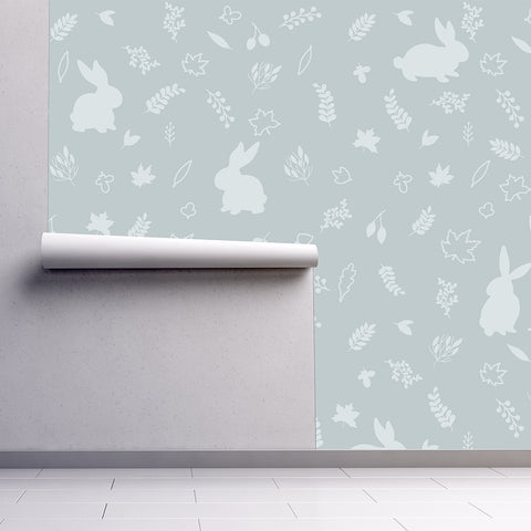 Urban Li'l Bunny Wallpaper - Mint