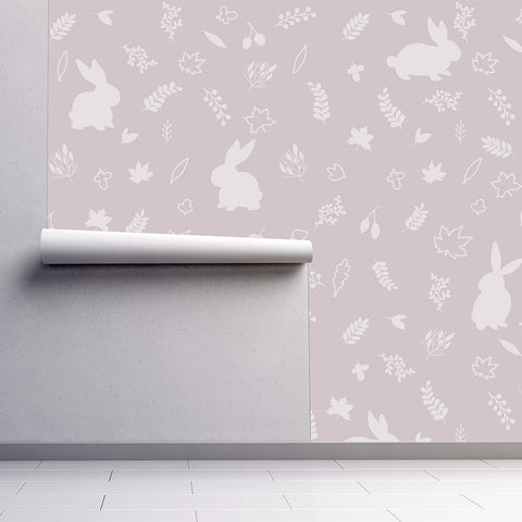 Urban Li'l Bunny Wallpaper - Pink