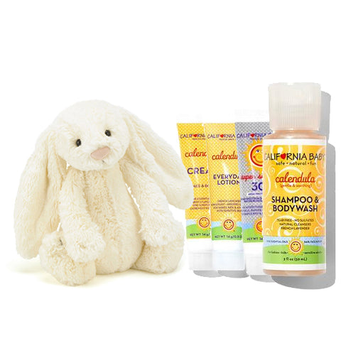 Motherswork Travel Set (California Baby + Jellycat)