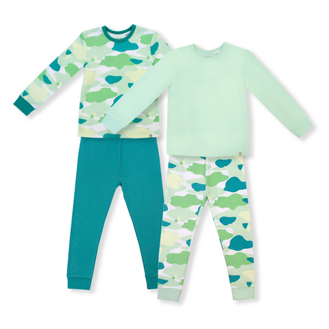 Oeteo Camo Flash Jammies 4-Piece Bundle Set (Green)