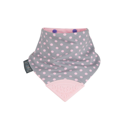 Cheeky Chompers Neckerchew (Polka Dot Pink)