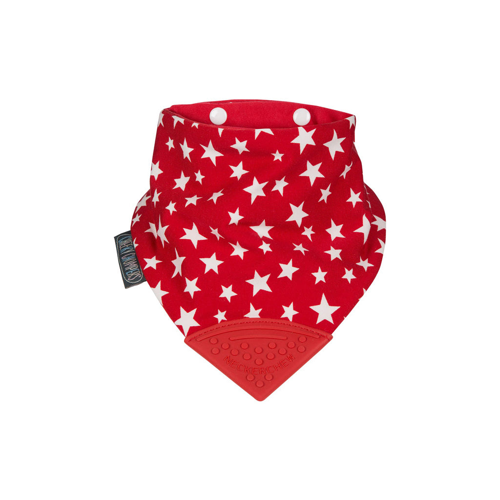 Cheeky Chompers Neckerchew Red Stars