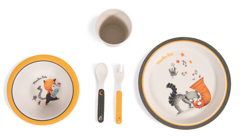 Moulin Roty 5-piece dish set Les Moustaches