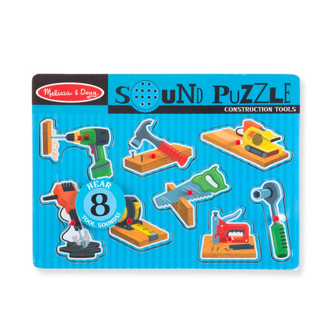 Melissa & Doug Construction Tools Sound Puzzle 2 years+