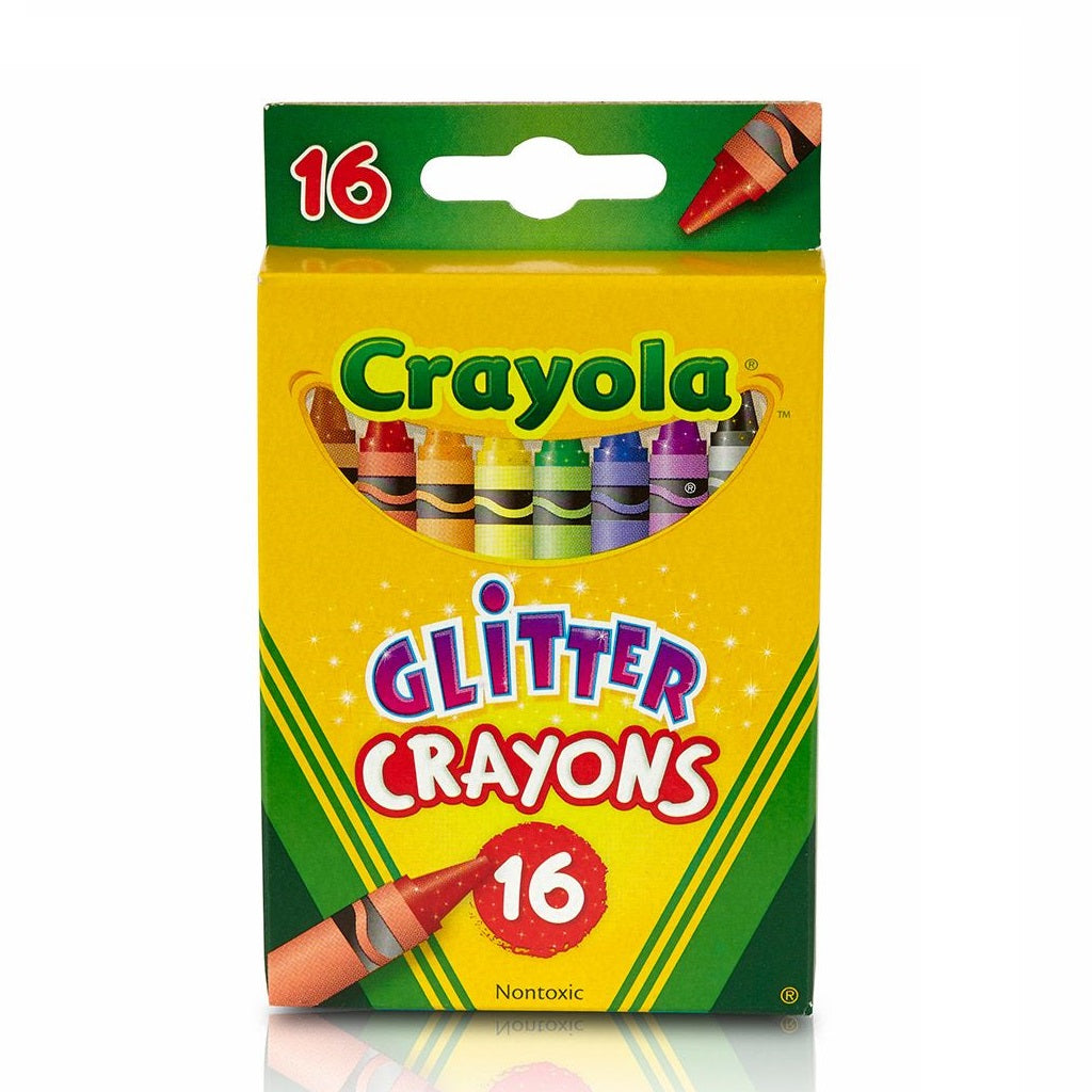 Crayola 16 Count Multi-Colour Glitter Crayons