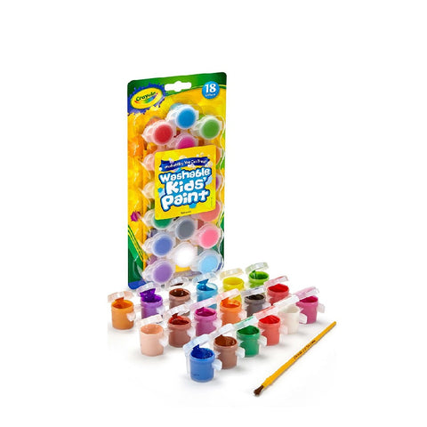 Crayola 18 Count Washable Kid's Paint with Brush