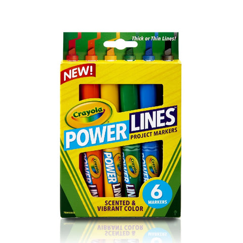 Crayola - 6 Count Washable Power Line Marker