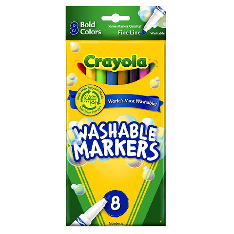 Crayola - 8 count Washable Markers