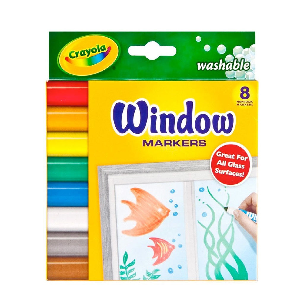 Crayola Washable Window Markers - 8 Count