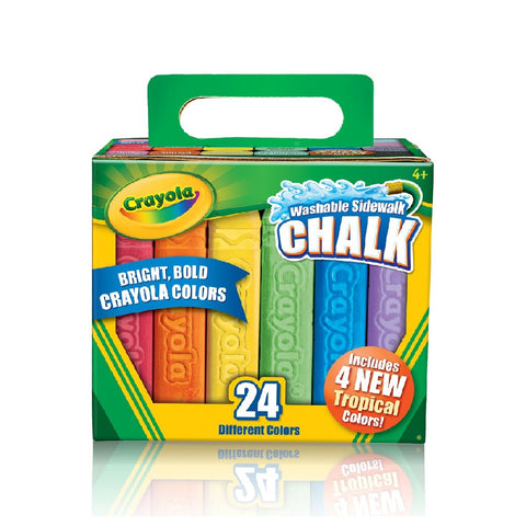 Crayola Sidewalk Washable Chalk 24 Count