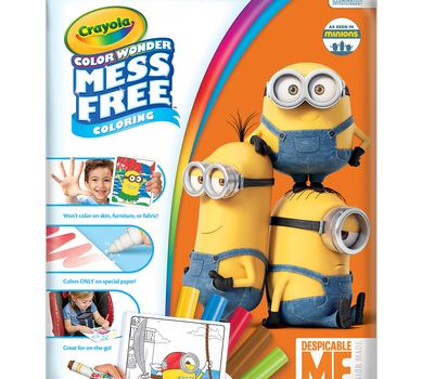 Crayola Colour Wonder Colouring Pad and Markers - Despicable Me