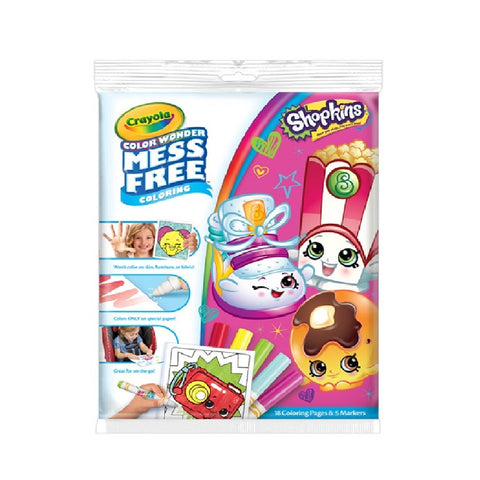 Crayola Colour Wonder Colouring Pad and Markers - Shopkins