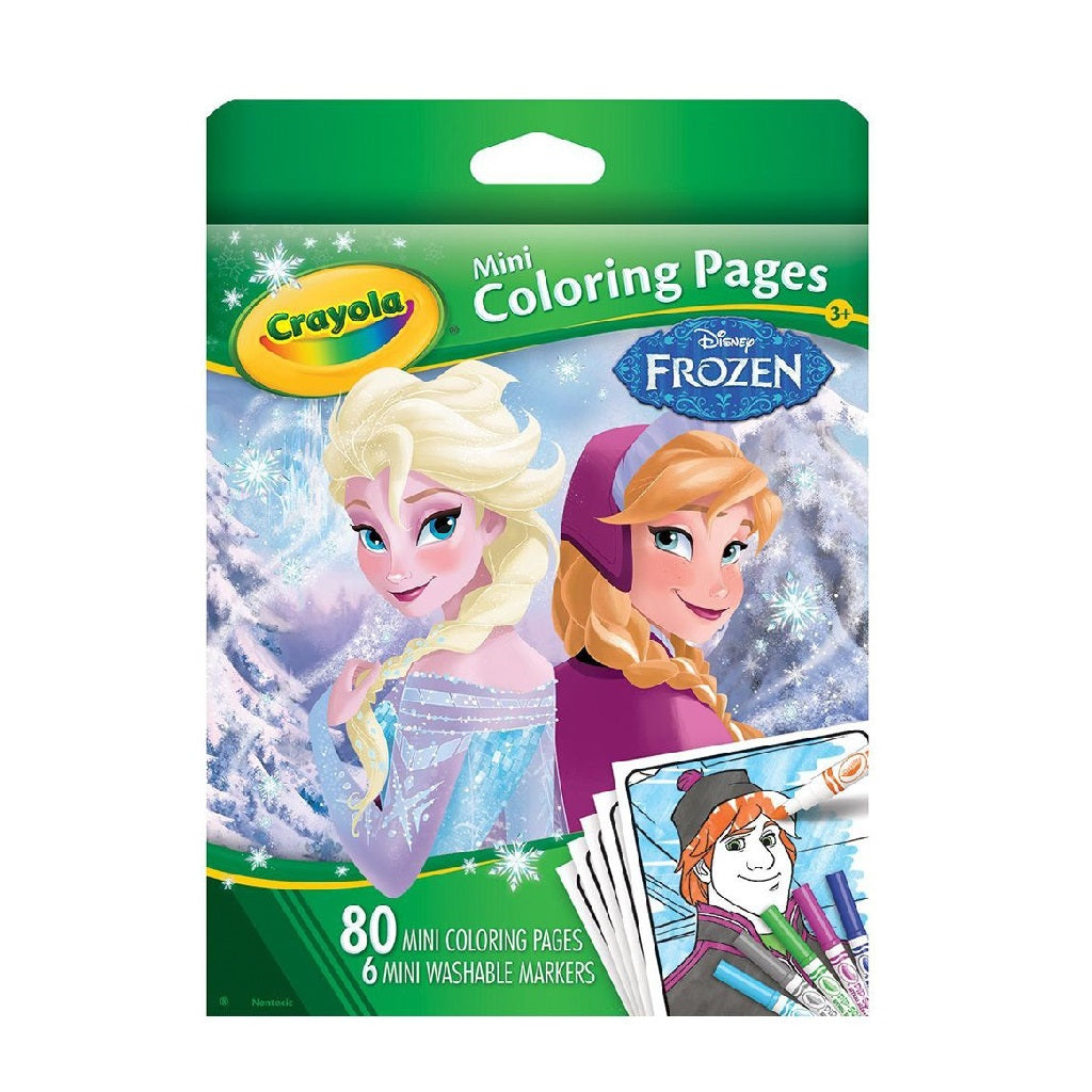 Crayola Mini Colouring Pages - Frozen