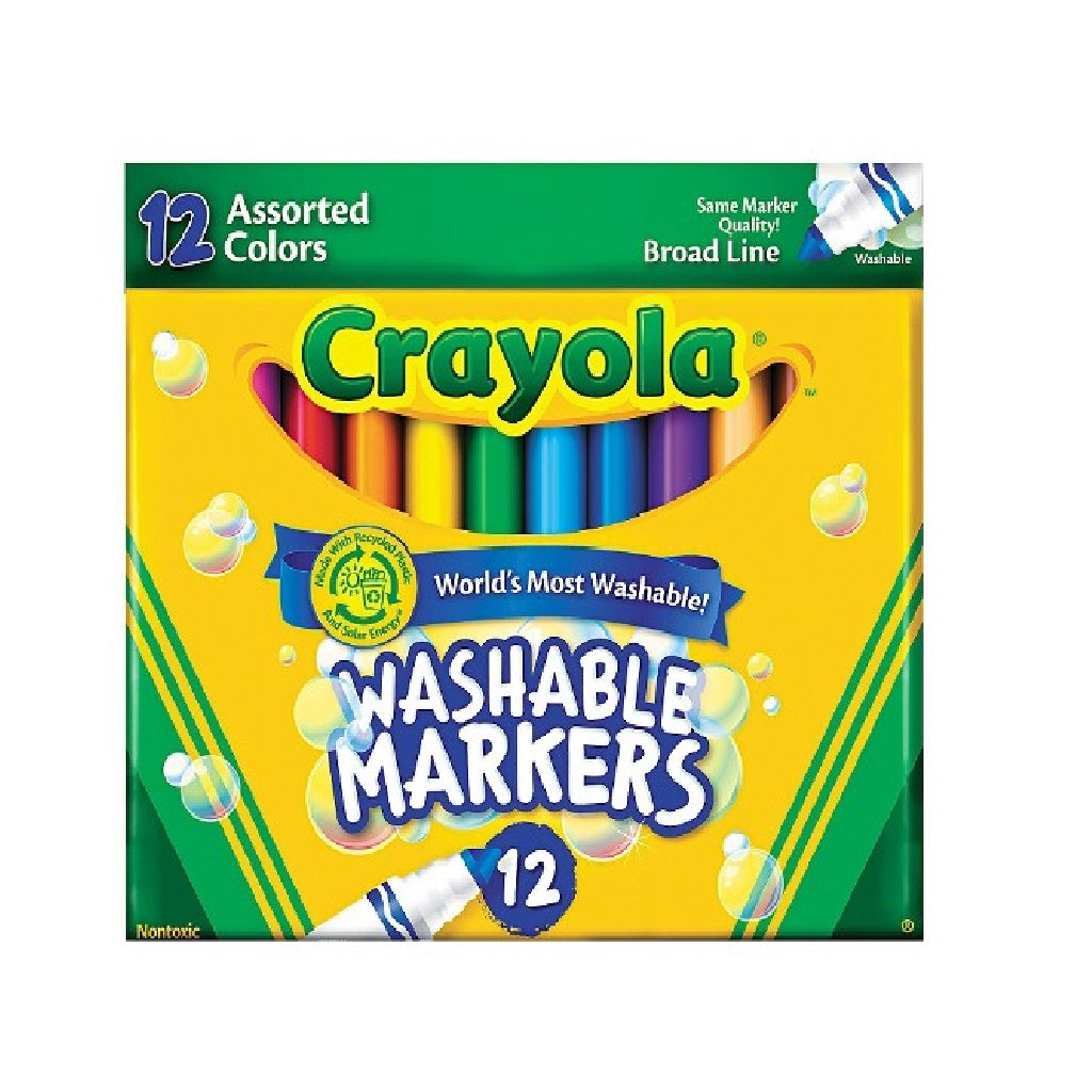 Crayola Ultra-Clean Washable Markers - 12 Count