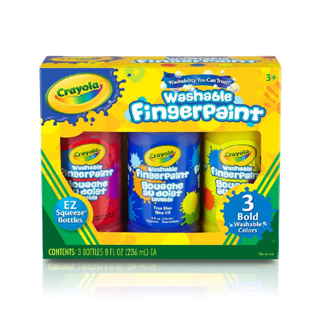 Crayola 3 Count Washable Finger Paint - Primary Colours