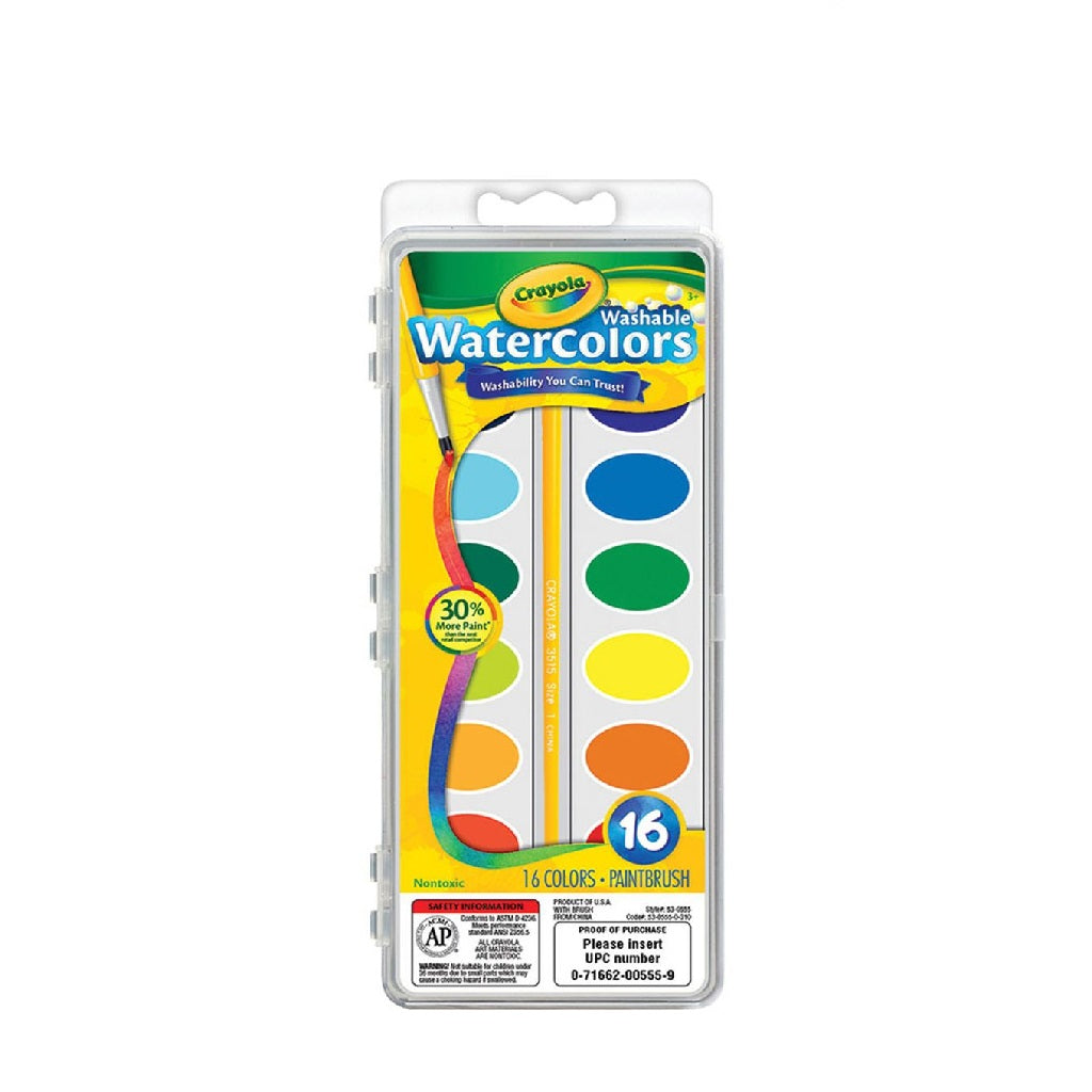 Crayola - Washable Watercolour 16 Count
