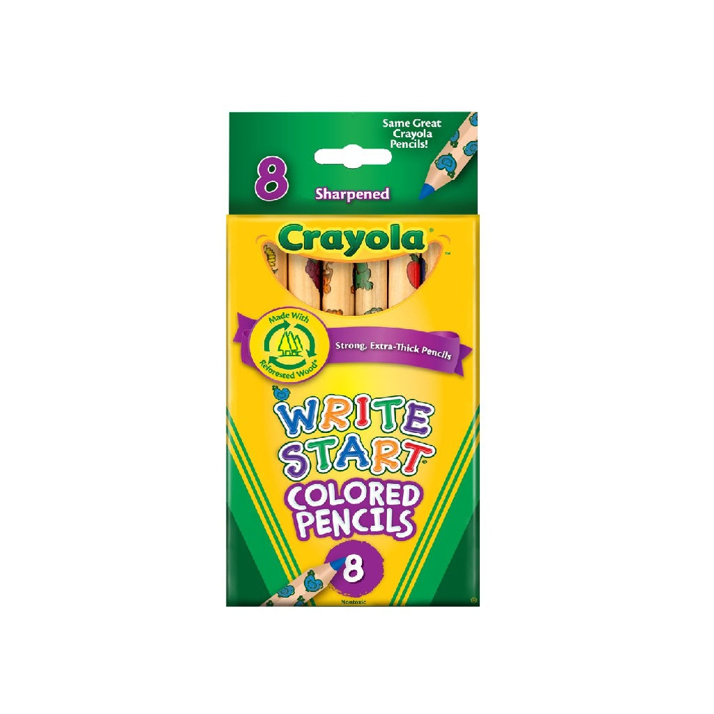 Crayola Start Learn Coloured Pencils - 8 Count
