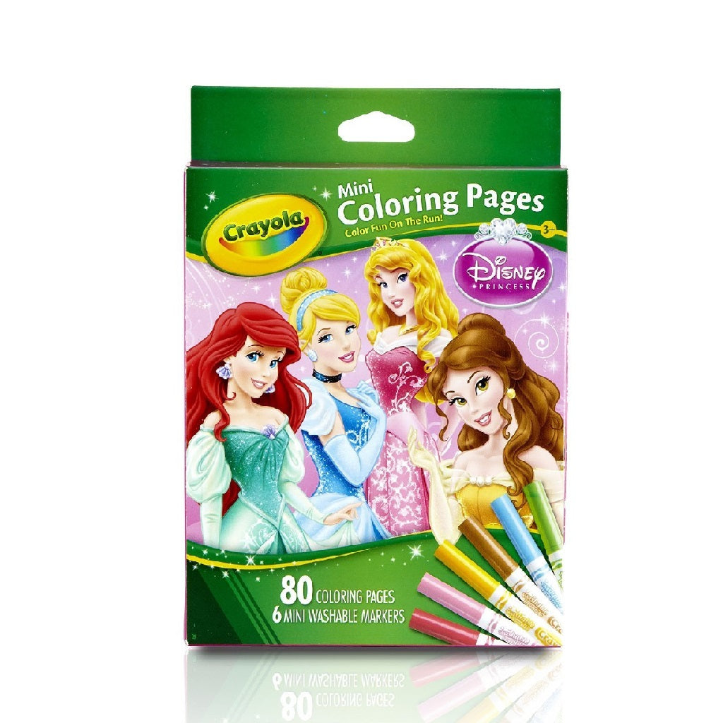 Crayola Mini Colouring Pages - Princess Edition