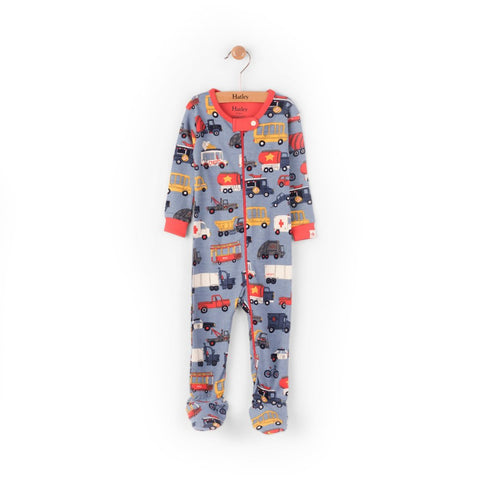Hatley Baby Boy Footed Coverall - Rush Hour