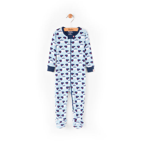 Hatley Baby Boy Footed Coverall - Cop Cars