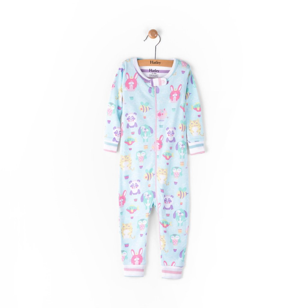 Hatley Baby Girl Footed Coverall - Cuteball