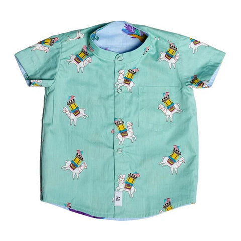 MAISON Q Dinoparty Reversible Shirt