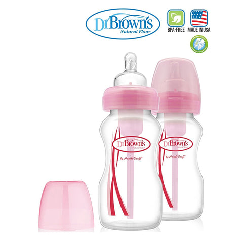 Dr Brown's PP Wide Neck Option Bottle 270ml - Twin Pack