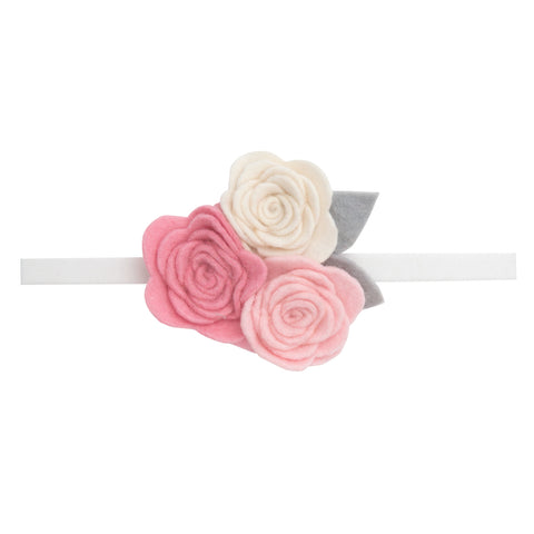 Elegant Baby Three Roses Headband
