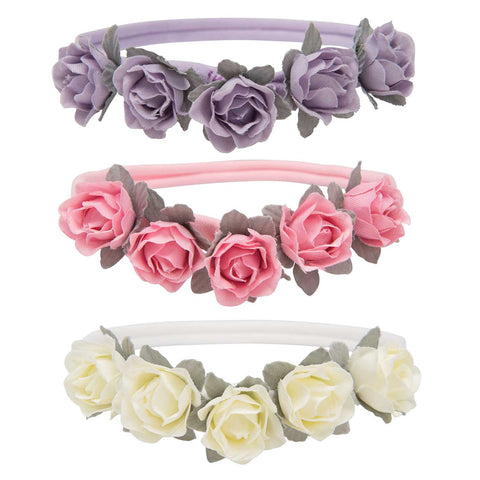 Elegant Baby Rose Headband Pack of 3