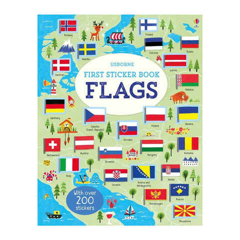 Usborne First Sticker Book - Flags