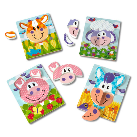 Melissa & Doug First Play Jigsaw Puzzle Set Farm 2 years+