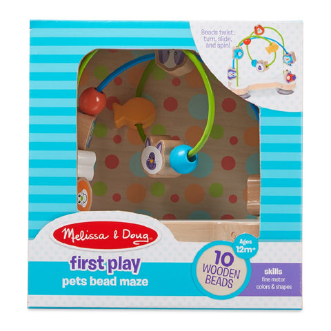 Melissa & Doug First Play Pets Wooden Bead Maze 12 months+