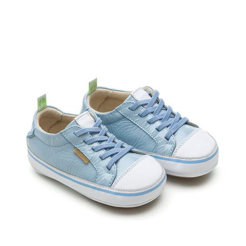 Tip Toey Joey Funky - Patent Blue White