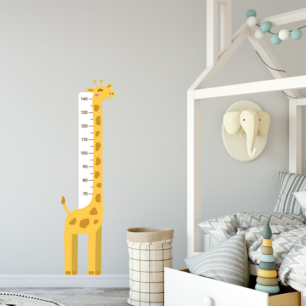 Urban Li'l Giraffe Height Chart Fabric Decal