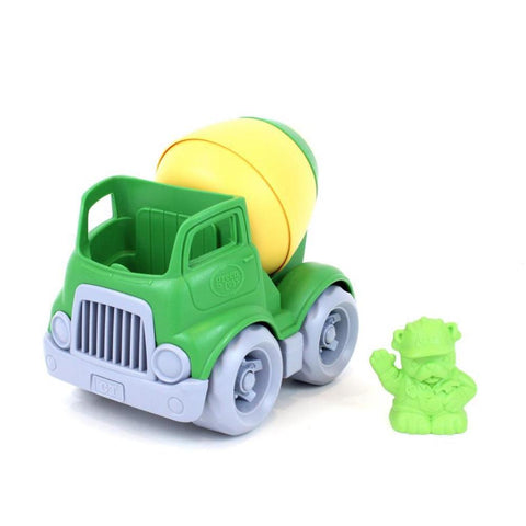 Green Toys Mixer Construction Truck Green/yellow