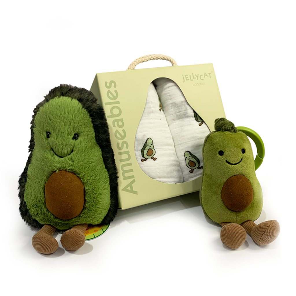 Ripe Avocado JellyCat Gift Set