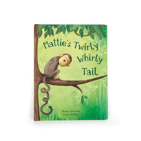 Jellycat Mattie's Twirly Whirly Tail Board Book