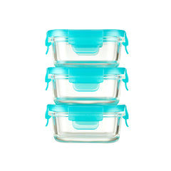 Innobaby Preppin' Smart EZ Lock Glass Container 3 Pack