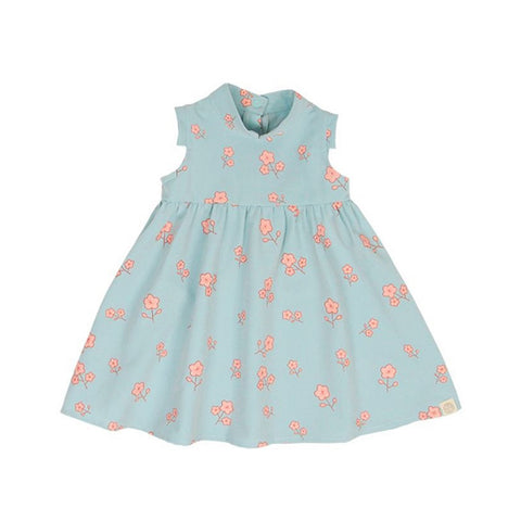 Le Petit Society Cherry Blossom Series - Baby Girl Dress In Blue