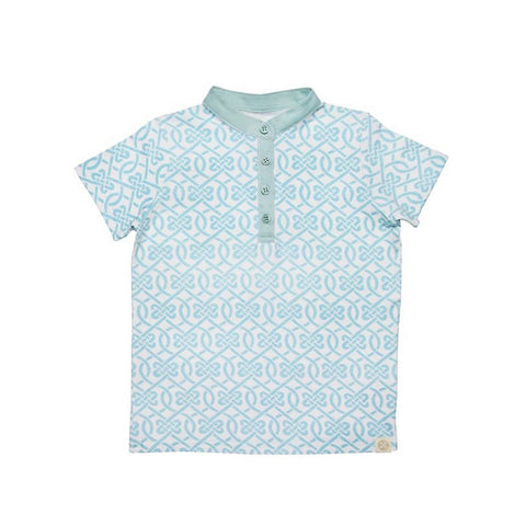 Le Petit Society Chinese Knots Series - Boys Jersey Shirt In Blue