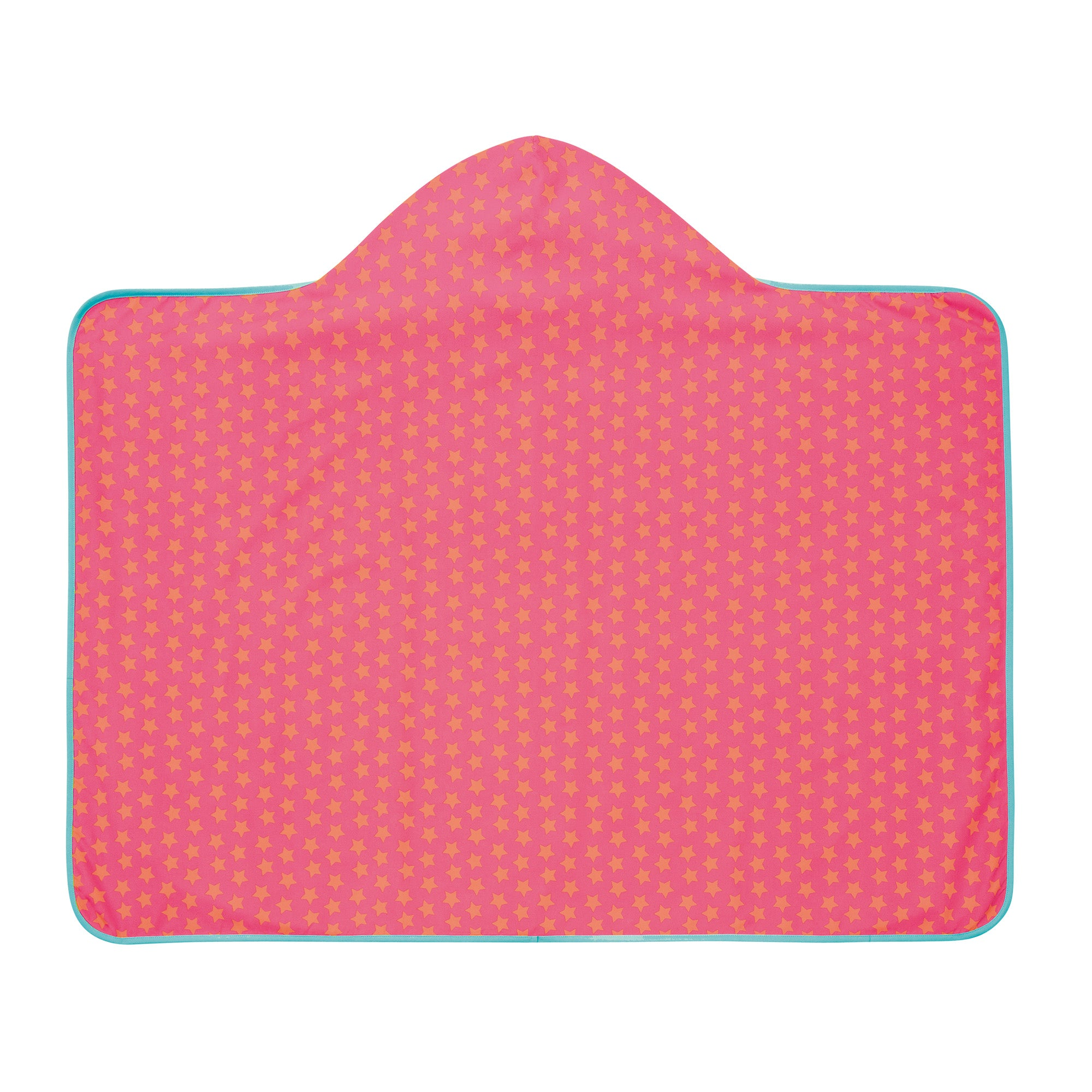 Lassig Girls Hooded Towel - Peach Stars