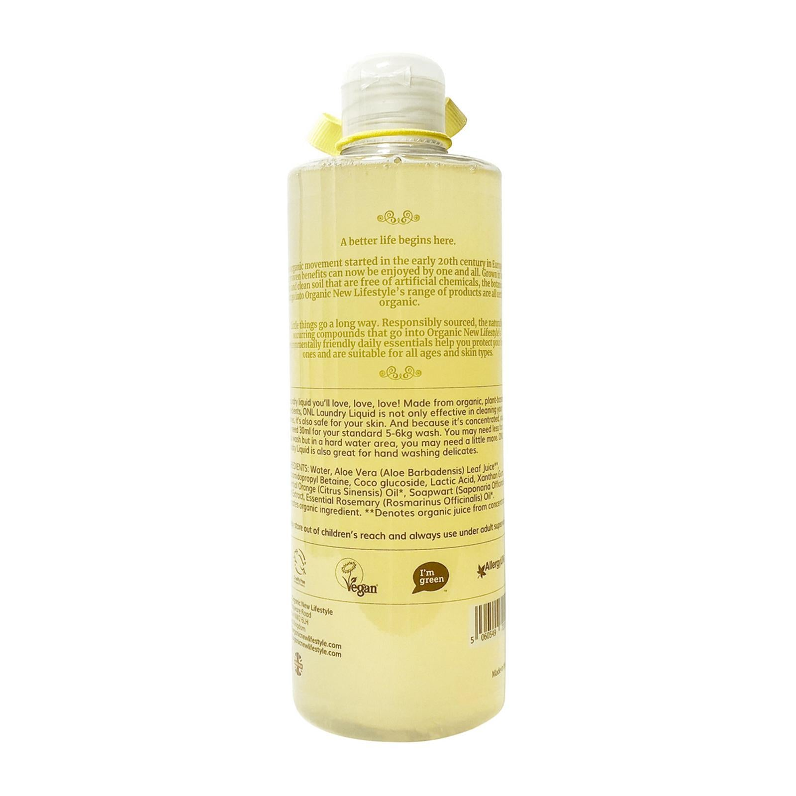 Organic New Lifestyle Laundry Liquid Citrus 500ml