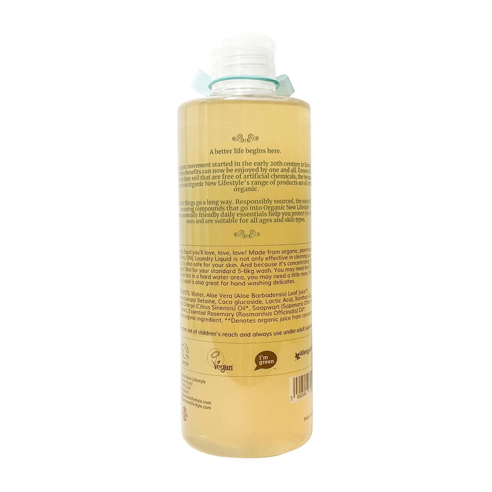 Organic New Lifestyle Laundry Liquid Mint 500ml