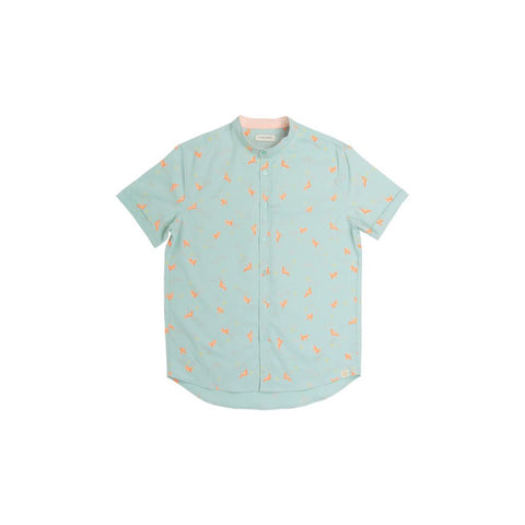 Le Petit Society Crane Series - Men's Shirt In Sky Blue